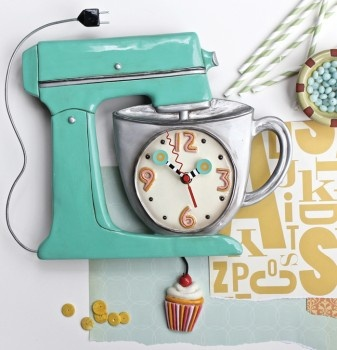 Mix It Up Clock from Allen Designs available at Edwin's in Franklin, MA