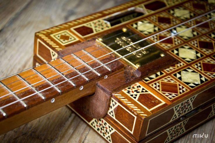 Miku cigar box guitar