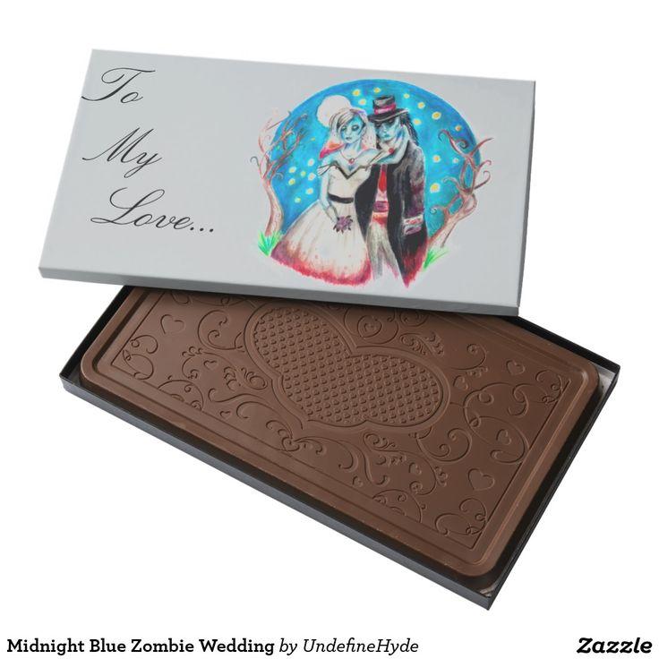Midnight Blue Zombie Wedding 2 Pound Milk Chocolate Bar Box Great Way To Say