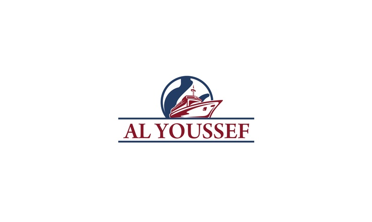Logo made by iServiceslb.com for a shipping and chartering company called AL YOUSSEF
