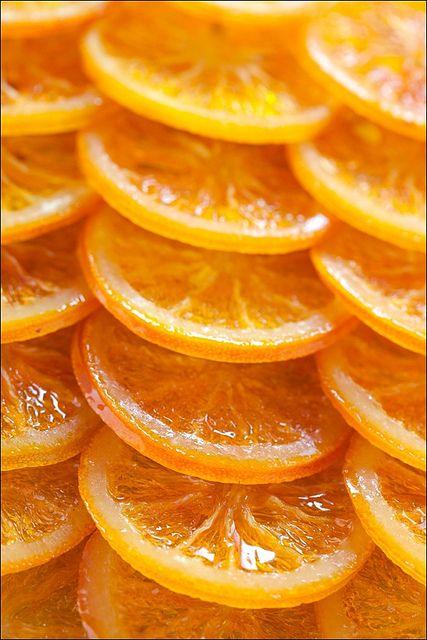 Naranjas confitadas para Navidad