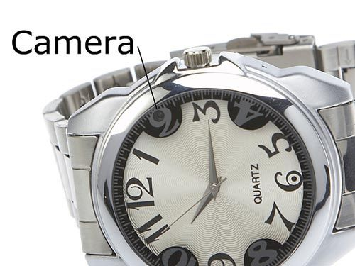 This is a beautiful watch with in built micro camera which looks very trendy and we can use as a casual wrist watch . This spy camera watch  has a storage capacity of 2 GB. The battery can be recharged using a USB port and data can be transferred to your PC using the USB port