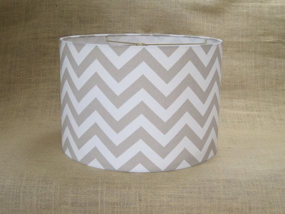 Lamp Shade Drum Lampshade Pendant Zigzag by SweetDreamShades, $75.00