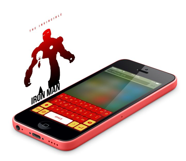 Avengers color keyboard concept