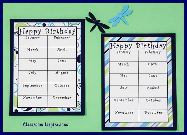With a birthday chart, keeping up with your kids special day couldn't be easier! classroominspirations.com