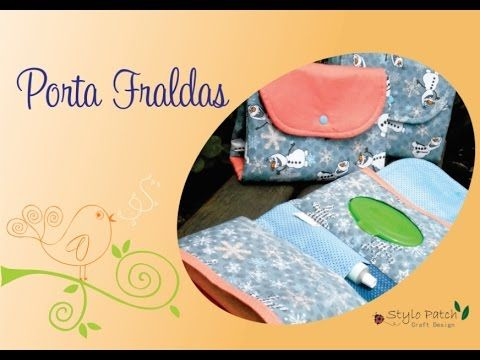 Patrícia Avancci - Porta Fraldas de Tecido - YouTube