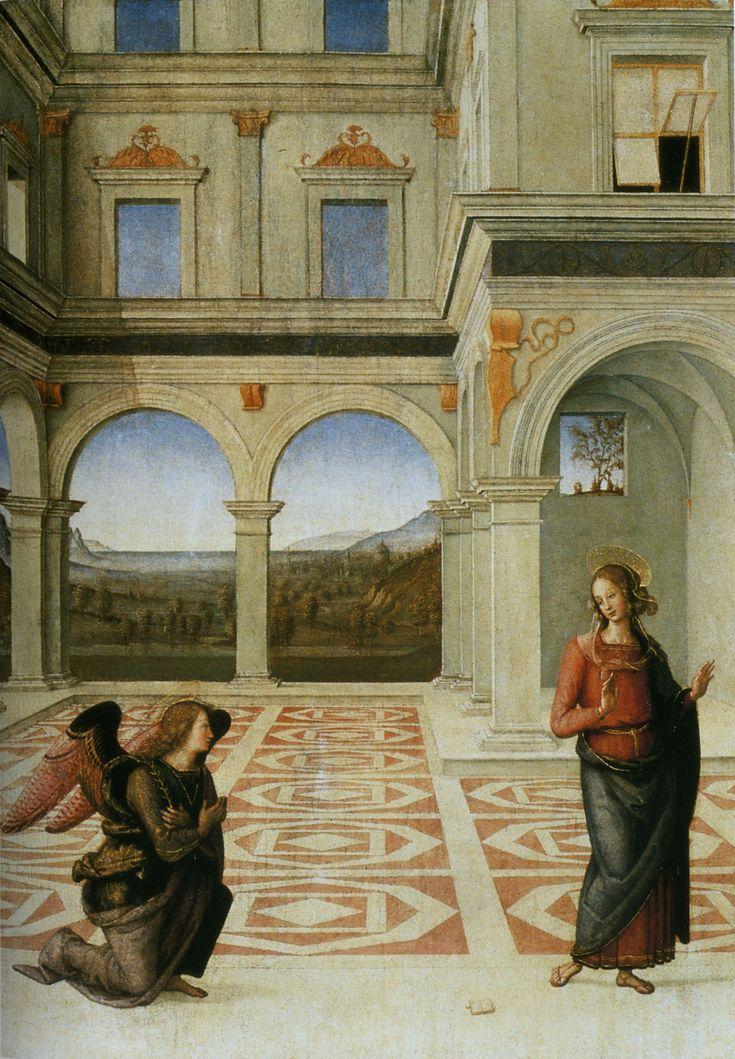 PERUGINO Pietro - Pietro Vannucci - Italian (Perugia 1446 - 1523 Umbrië) ~ visitation: