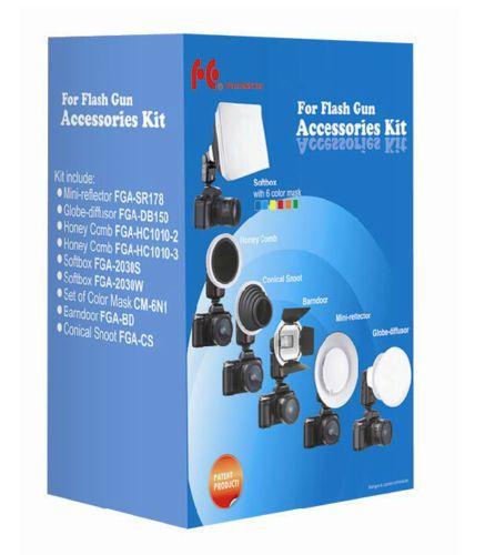 7-in-1-Flash-Gun-Accessories-Kit-Softbox-Honeycomb-Snoot-for-Nikon-SB600-SB800