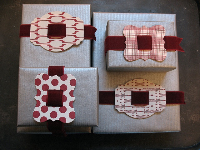 Ribbon buckles. Quick way to dress up any package!