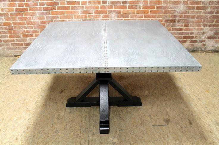 The 25 best Zinc table ideas on Pinterest Metal top  : fa0cd45ad711253fec8fc66d861c8e4c reclaimed dining table zinc table from www.pinterest.nz size 736 x 489 jpeg 66kB