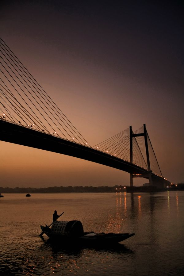Dusk over Hooghly River, Calcutta