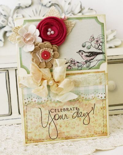 shabby tea room birthday wishes...: Cards N Tags, Birthday Card, Crafty Cards, Greeting Cards, Beautiful Card, Card Ideas, Cards Crafts, Paper Crafts
