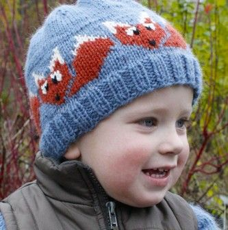 Fox Motif Hat Free Knitting Pattern