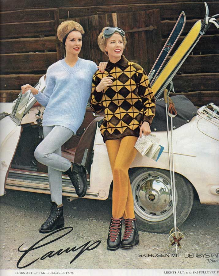 Skihosen 105,- Fr. , Skipullover 75,- Fr. im Jahr 1962