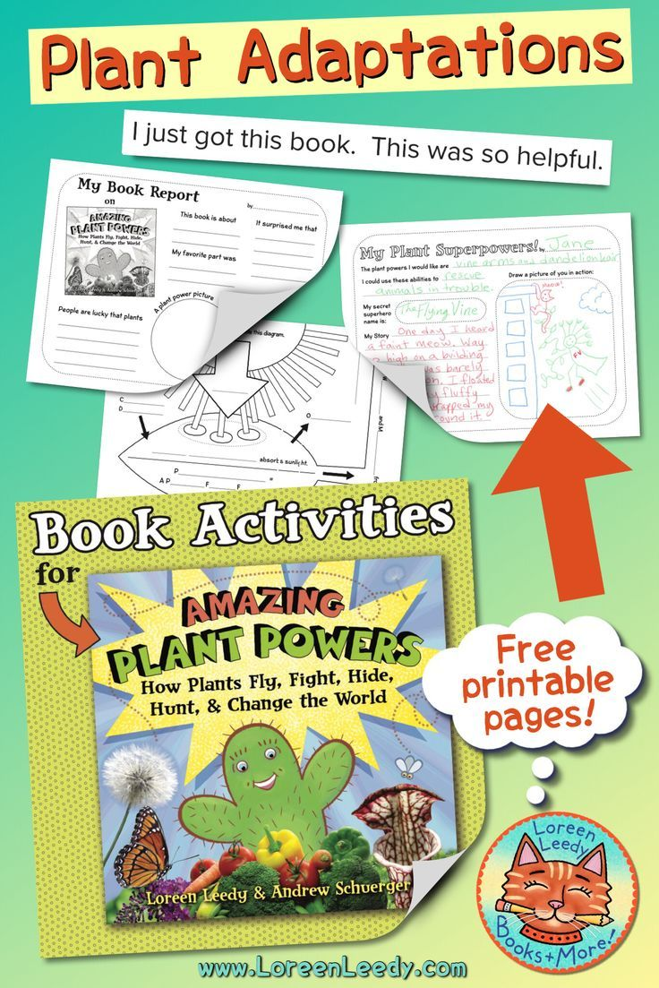 Blog post: Info and FREE printables for the book Amazing Plant Powers [ 1103 x 736 Pixel ]