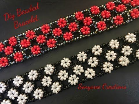 Right Angle Weave Embellished Bracelet ( Easy to Follow Tutorial) ❣️ - YouTube