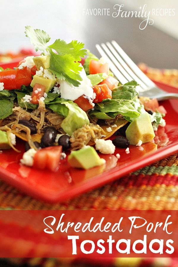 Shredded Pork Tostadas -- 100 Days of Summer Slow Cooker Recipes
