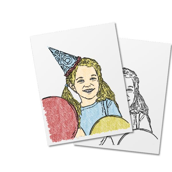 convert photo to coloring book