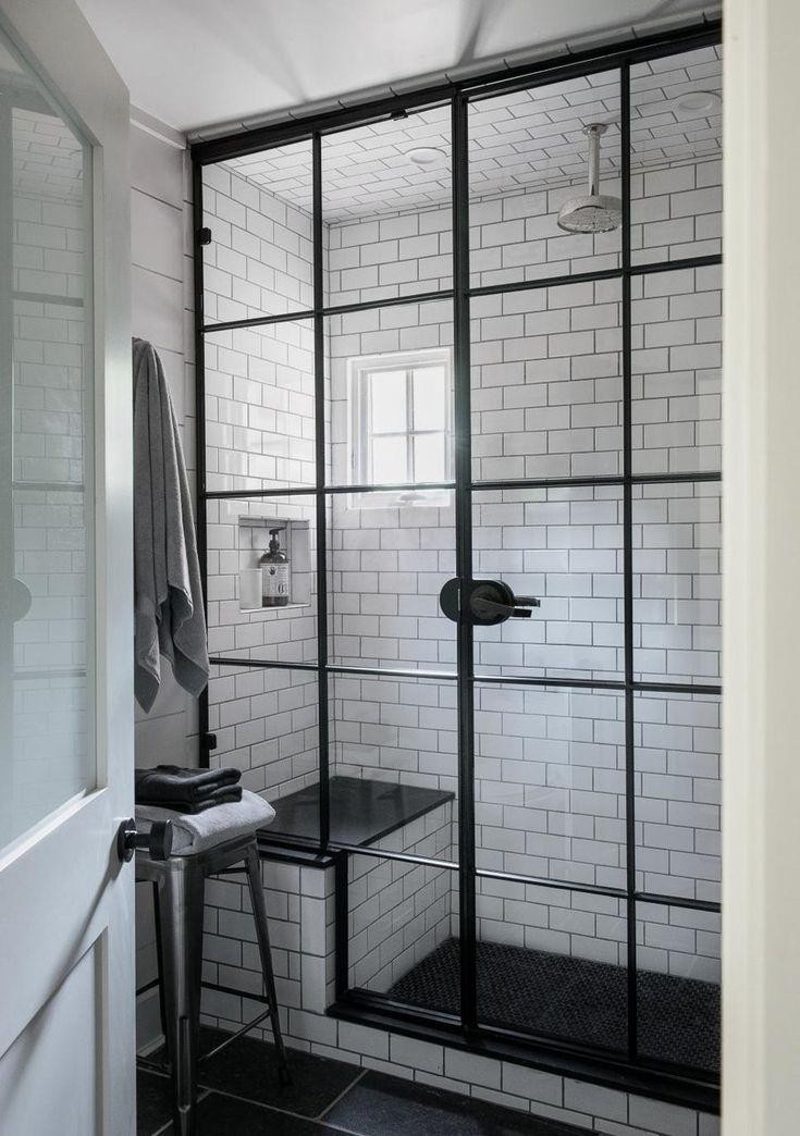 Die besten 25+ schwarzen Fliesen Badezimmer Ideen auf Pinterest - leuchte f r badezimmer