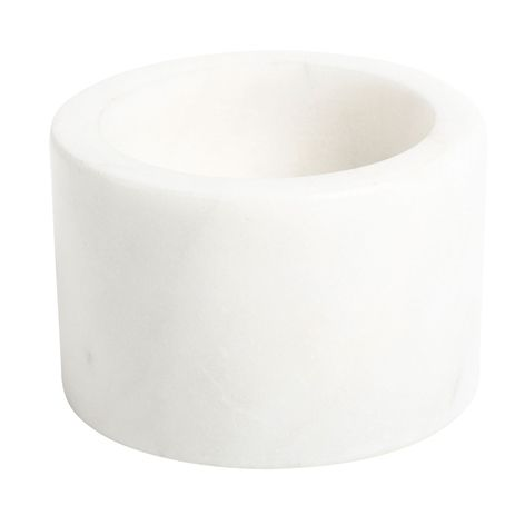 Marble salt bowl, white. . White marble salt bowl. Also available in black. Marble is a natural material and colouration and marbling may vary from one item to