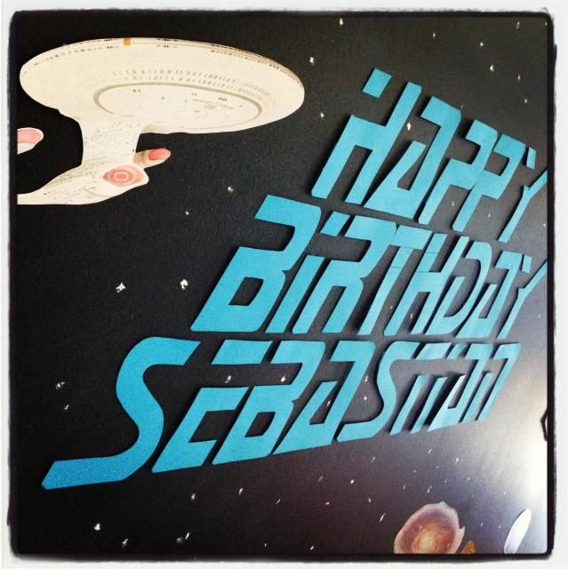 Star Trek Themed Party, banner. LOVE THIS!!!!!....Looks like I found something for Cam's 25th birthday! muaahaha