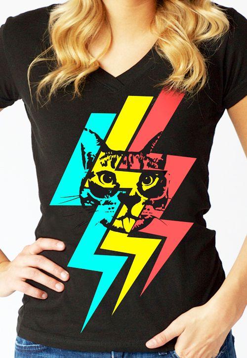 Cheeky Hipster Cat custom t-shirt design from petrifiedpanda
