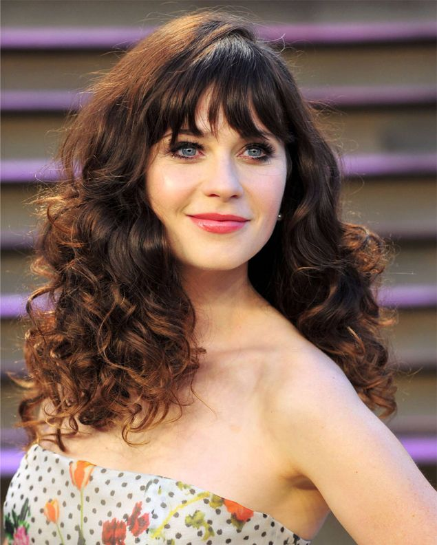 Zooey Deschanel Prettiest Brunette Curly Hairstyles 2015 ...