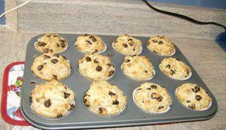 Muffins à l'avoine et aux brisures de chocolat