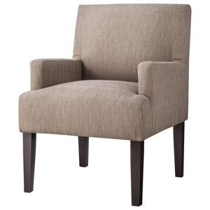 Best Dolce Upholstered Accent Arm Chair Tan Home Decor Idaes 400 x 300