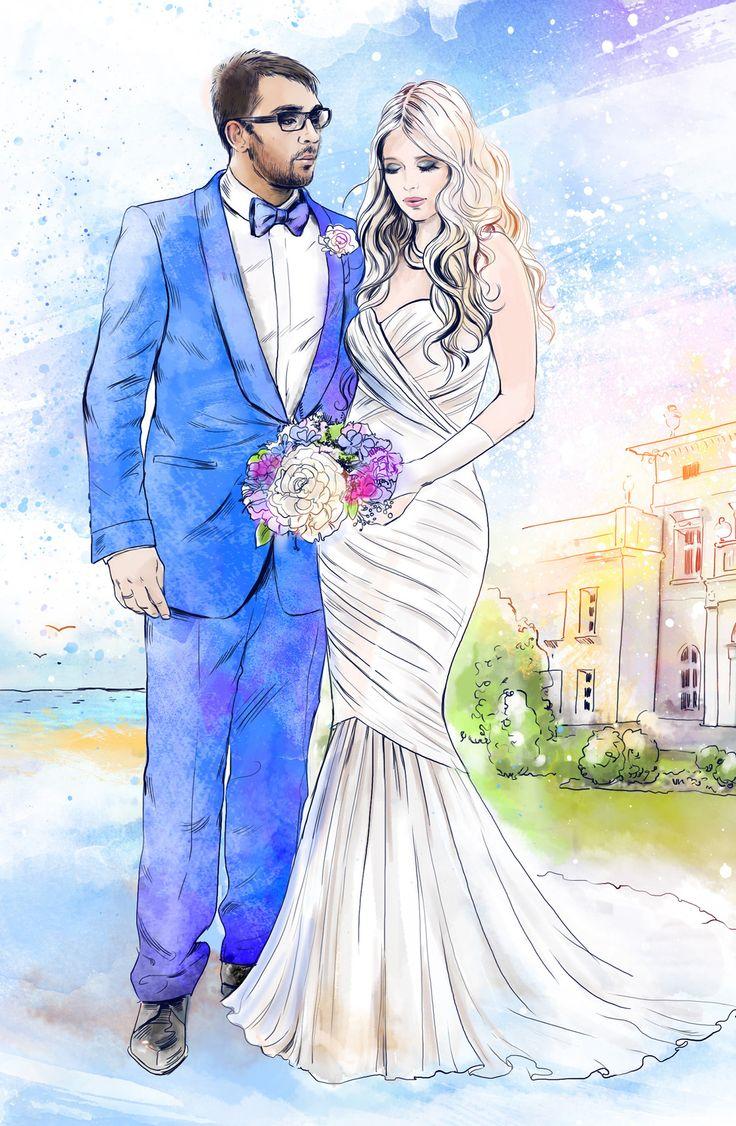 Надписями, свадебные рисунки красивые