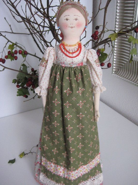 """Author's textile decoration Doll """"Dunyasha"""