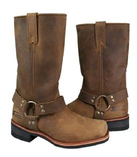 Women's Xelement Classic Harness Distressed Brown Motorcycle Boots
