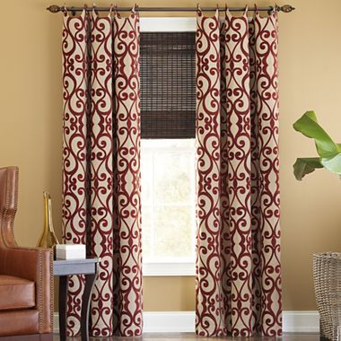 Drapery panels cindy crawford and curtain panels on pinterest for Jcpenney living room curtains