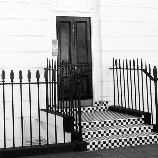 #london #steps #door #architecture #bw #checkerboard #blackandwhite #nottinghill