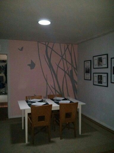 Butterfly silhouette hand painted accent wall mural ...