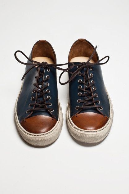 Buttero - Tanino Low Leather Two Tone (Men Shoes)