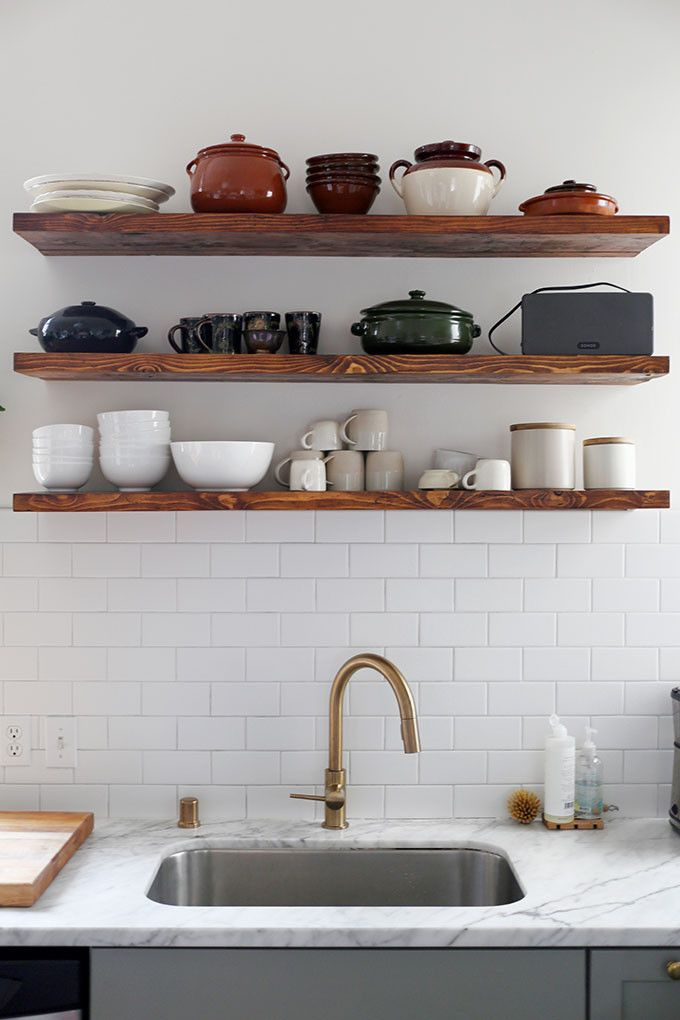 25+ Best Ideas About Floating Shelves Kitchen On Pinterest | Open