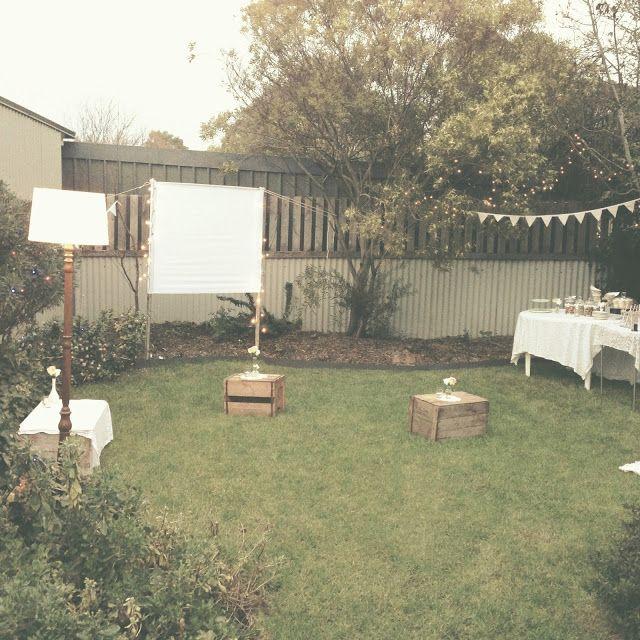 outdoor cinema party