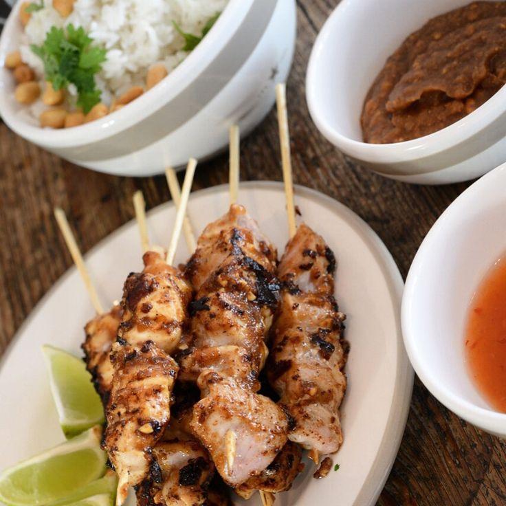 Satay - kylling&svin