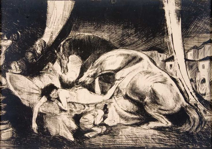 "Bruno Schulz - Booke of Idolatry - ""Ogiery i eunuchy / Stallions and eunuchs"", 1920-1921"