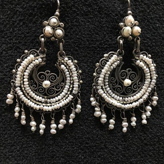 d740ab3c7 Artist: Federico Jimenez French Earwire Pearls,Filigree,Sterling Silver  Metal Finish: Oxidized