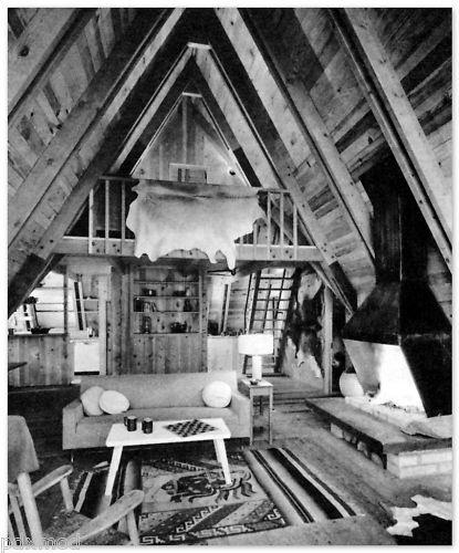 1961 Vintage Cabins Vacation Homes Mid Century Modern Adams Shulman Riggs | eBay