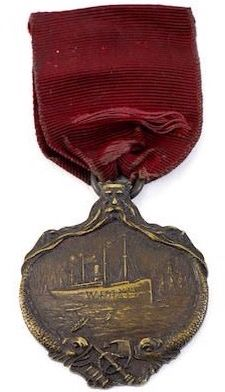 RMS Carpathia Medal given to Carpathia crew members for rescuing the Titanic survivors
