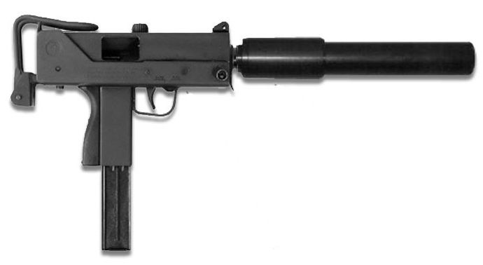 MAC-10 Caliber: .45 ACP Capacity: 30 rounds Fire modes: Full-auto. This compact sub-machine gun deals stopping power, simplicity, ease of use and effectivness of the sound suppressor but remains difficult to control.