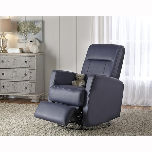 lily purple nursery swivel glider recliner chair