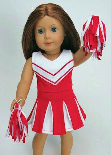 Red Cheerleader Outfit for American Girl Doll Clothes #Generic