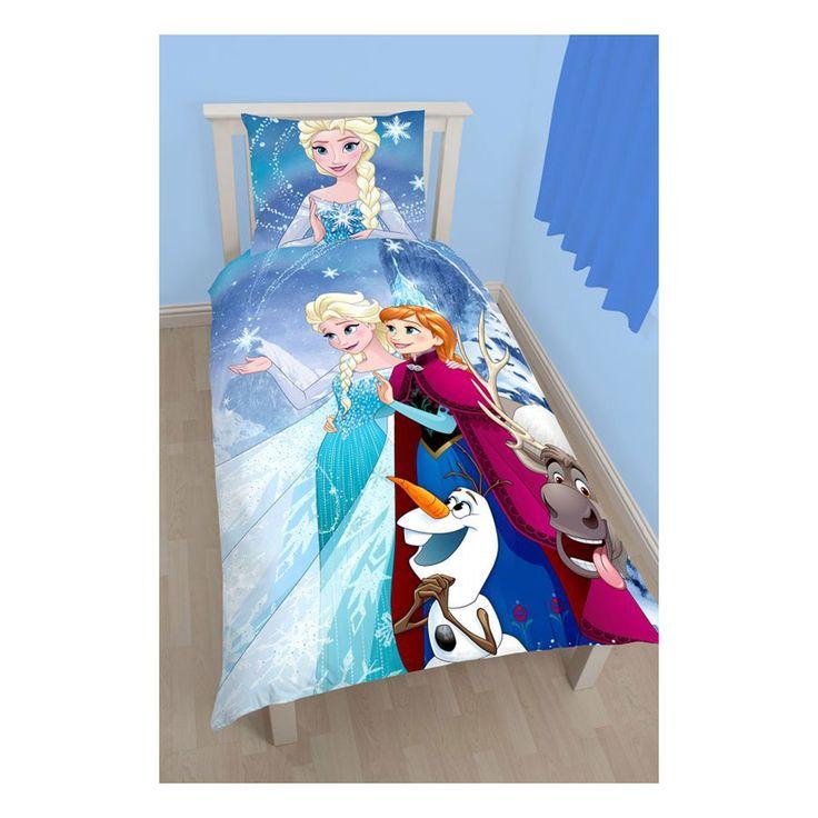 1-persoons reversible Disney Frozen kinderdekbedovertrek 140 x 200 cm. Het dekbedovertrek is gemaakt van 100% katoen en heeft een leuke afbeelding van Disney Frozen. Incl. 1 kussensloop (60 x 70 cm).