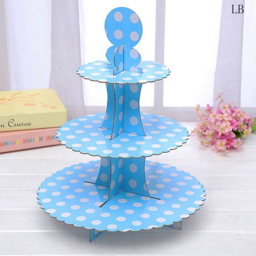 3Tier-Cardboard-Cupcake-Stand-Plates-Wedding-Birthday-Party-Muffin-Holder-GT