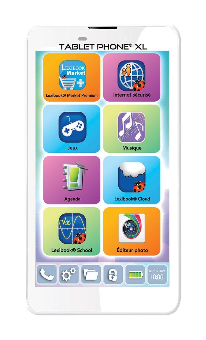 [CATALOGUE GÉNÉRAL 2015] TABLET PHONE® XL: Plus qu'un téléphone et mieux qu'une tablette, un Tablet Phone® XL ! Un format avec écran XL, la « phablette » éducative par excellence ! Service iParent®, pour garder un oeil sur le  smartphone à distance et être rassuré à tout moment ! Des outils pratiques et de nombreuses applications pour communiquer avec ses amis, s'amuser et partager ! Compatible tous opérateurs. RÉF. MFS200FR http://www.exertisbanquemagnetique.fr/info-marque/lexibook