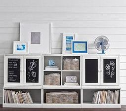 Cameron Creativity Low Storage System with Open Bases and Chalk Cabinets